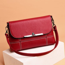 2019 Female Vintage Messenger Bags Womens Crossbody Bag Small Flap Leather Shoulder Luxury Handbags V A Designer Ladies