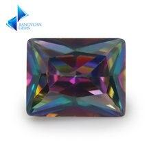 Размер 3x5mm ~ 10x 12mm покрытие разноцветные кубические циркониевые