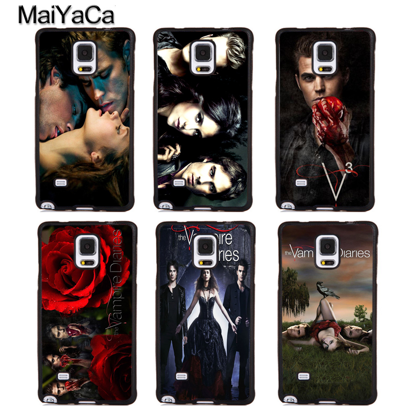MaiYaCa Damon Elena The Vampire Diaries Phone Cases For Samsung Galaxy S5 S6 S7 edge Plus S8 S9 plus Note 4 5 8 Full Cover Shell