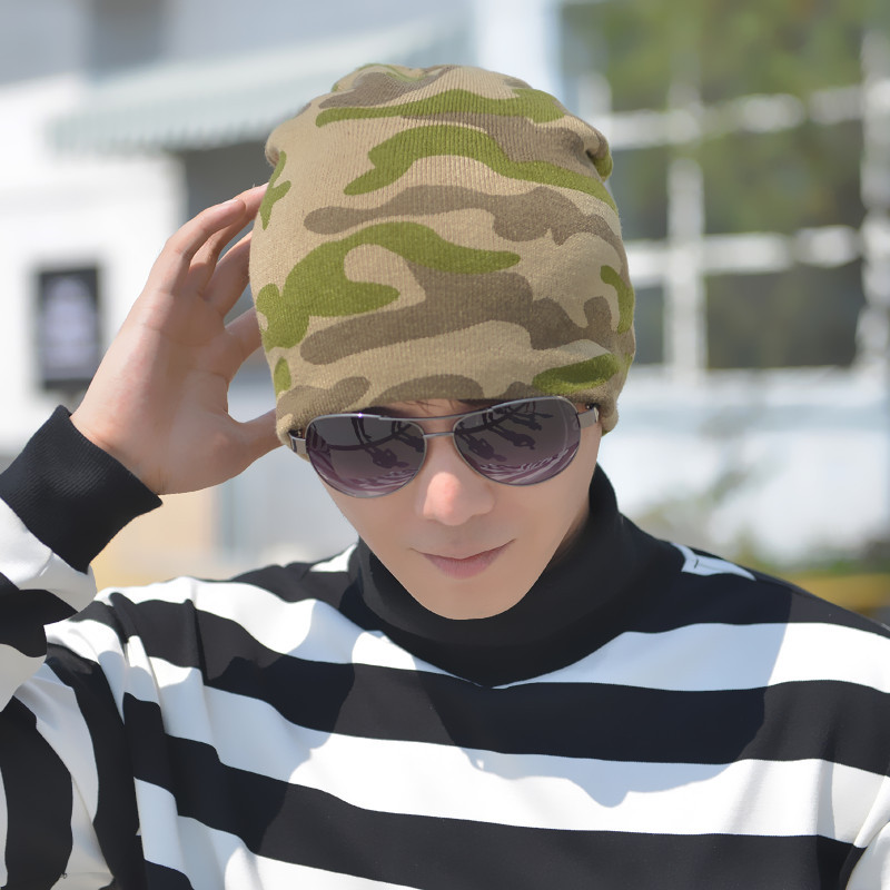 Beanies Winter Hats For Men Knitt Caps Beanies Hat Knit Camouflage Skullies Beanie male  ...