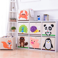 Cartoon Storage Box Large Capacity Clothes Storage Box Creative Household Goods Folding Chest For Children's Toys