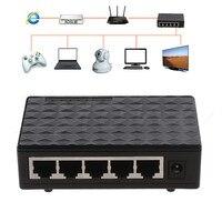 5-port 10/100/1000 Mbps TX Auto-Negociação Ethernet Desktop Switch de Rede Auto-MDI/MDIX Hub Plug EUA