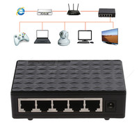 5 Port 10 100 1000 Mbps TX Auto Negotiation Ethernet Network Desktop Switch Auto MDI MDIX