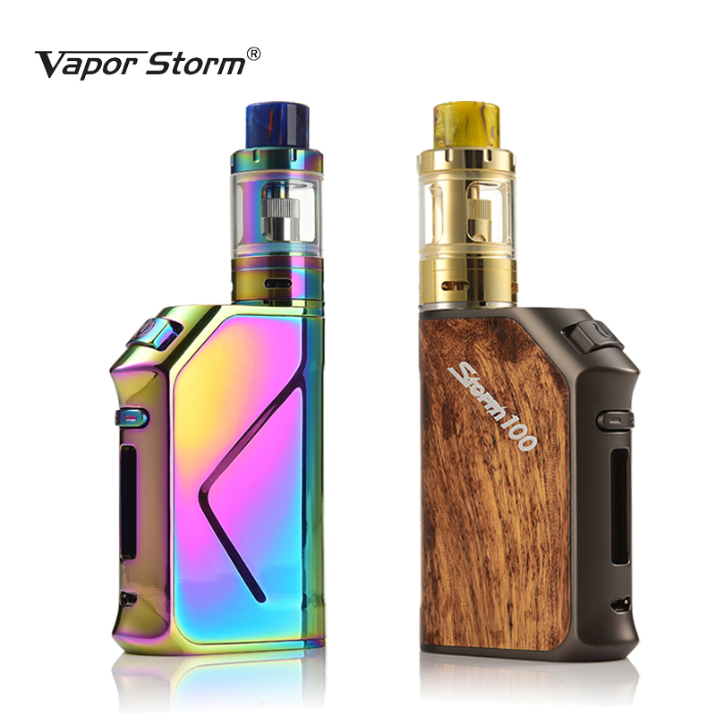 Electronic Cigarette Vapor Storm V100 Storm100 3200mah Battery 100W TC Box Mod Sub Ohm Top Refill