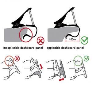 Image 2 - Tendway Dashboard Car Phone Holder 360 Degree Mobile Phone Stand Holder Grip in Car Universal Adjustable Cell Phone Holder Mount