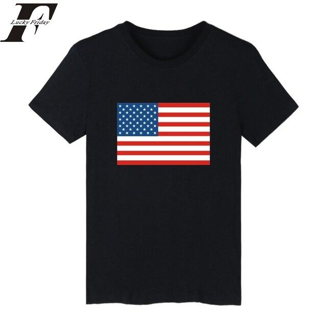 77d9d57542 2017 harajuku camiseta Da Bandeira Dos Estados Unidos Nacionalidade DOS EUA  Camisas Engraçadas de T Homens