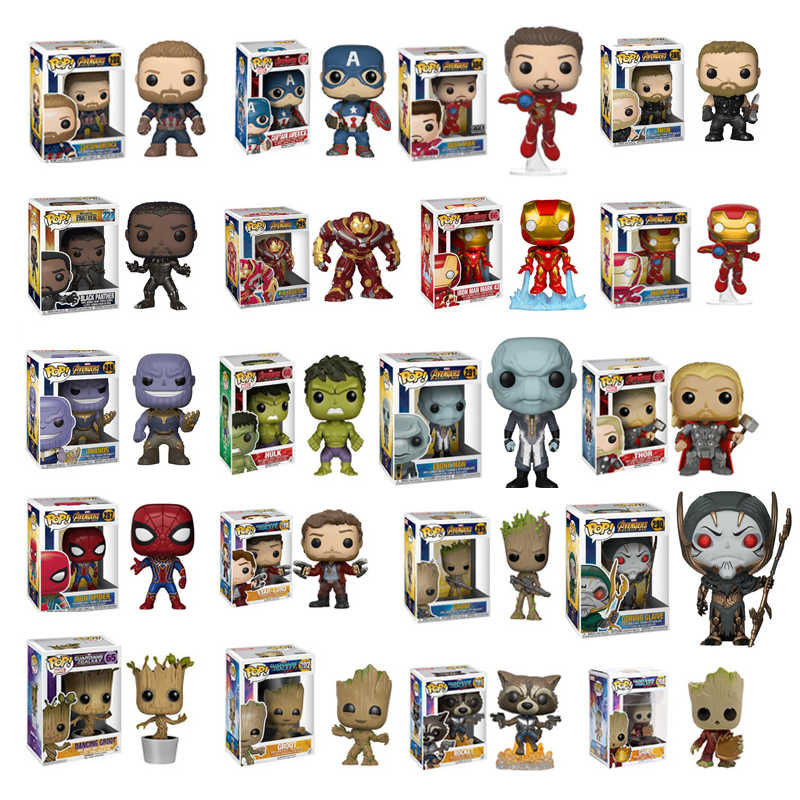 FUNKO POP Marvel Avengers Stan Lee Captain Hulk Iron Man Thor SpiderMan Action Figure Collection Model toys for Marvel fans Gift