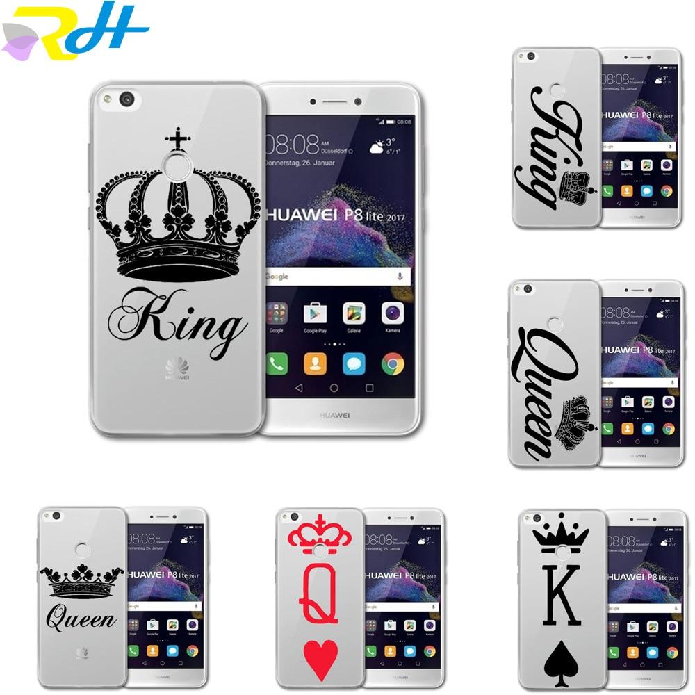 king queen tpu silicone phone coque for huawei p8 lite 2017 p9 p10 lite p10 plus phone case skin. Black Bedroom Furniture Sets. Home Design Ideas