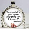 Siempre Tuviste el Poder Collar, mago de Oz de La Joyería, mago de Oz, Plata de la manera Plateó Gargantilla Collar