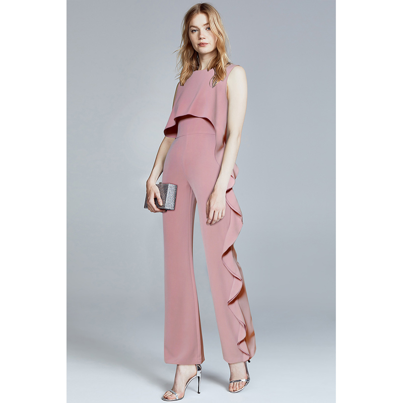 summer 2018 womens romper one piece outfits pink ruffles ...