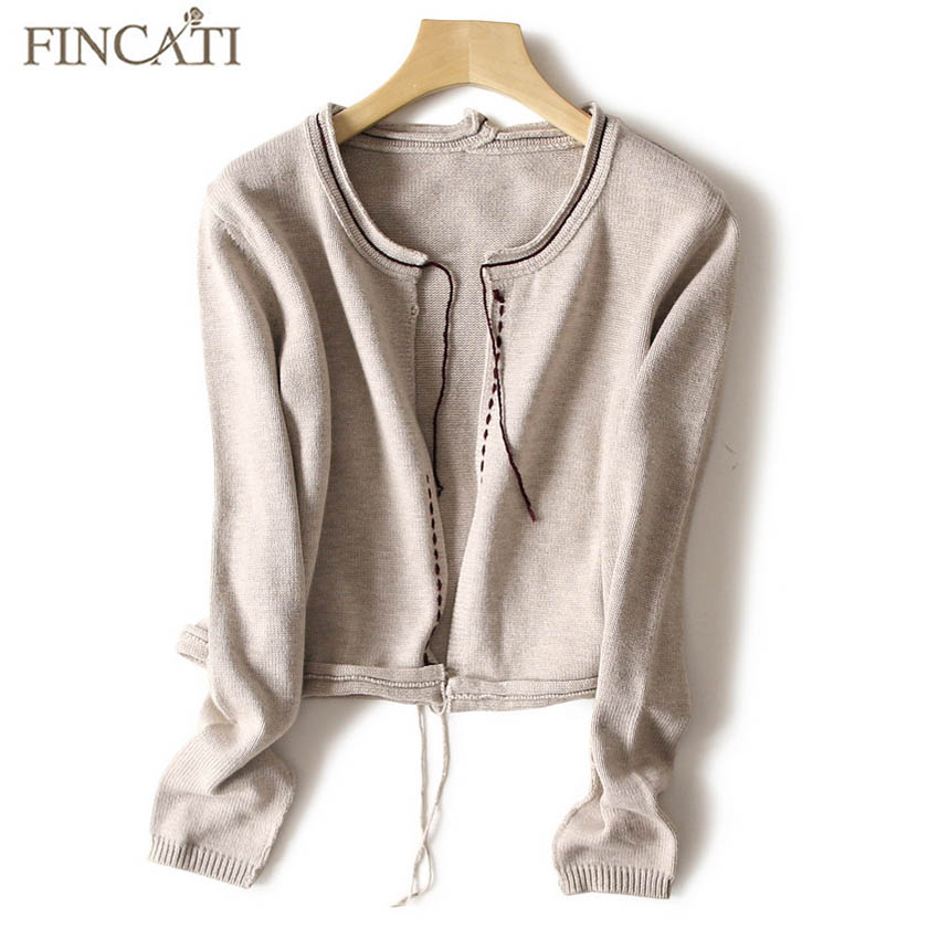 Women Cardigans 2018 High-End Autumn Winter Pure Cashmere Wool Open Stitch Fashion Slim Short Cardigan Outwear Coat Shirt ...
