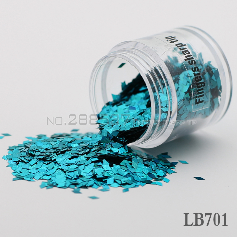 Nails-Party Store 2017 diamond shaped nail decorative sequins DIY light blue colorful Shine metal texture 3D Slice canned 2mm LB7001
