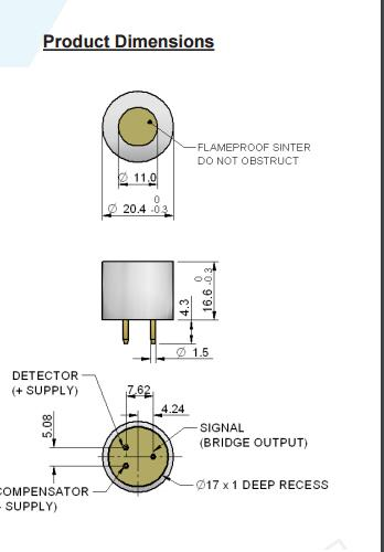 4P75C 4p 75c Combustible Gas Sensor Part Number PM483 000