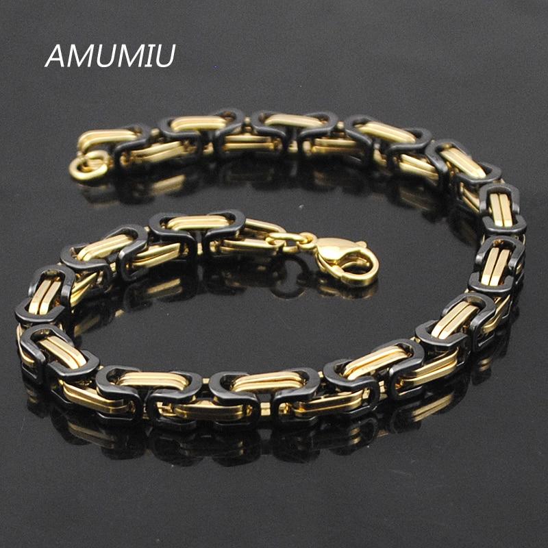 Προώθηση AMUMIU! Ανδρικά βραχιόλια χρυσό - Κοσμήματα μόδας - Φωτογραφία 6
