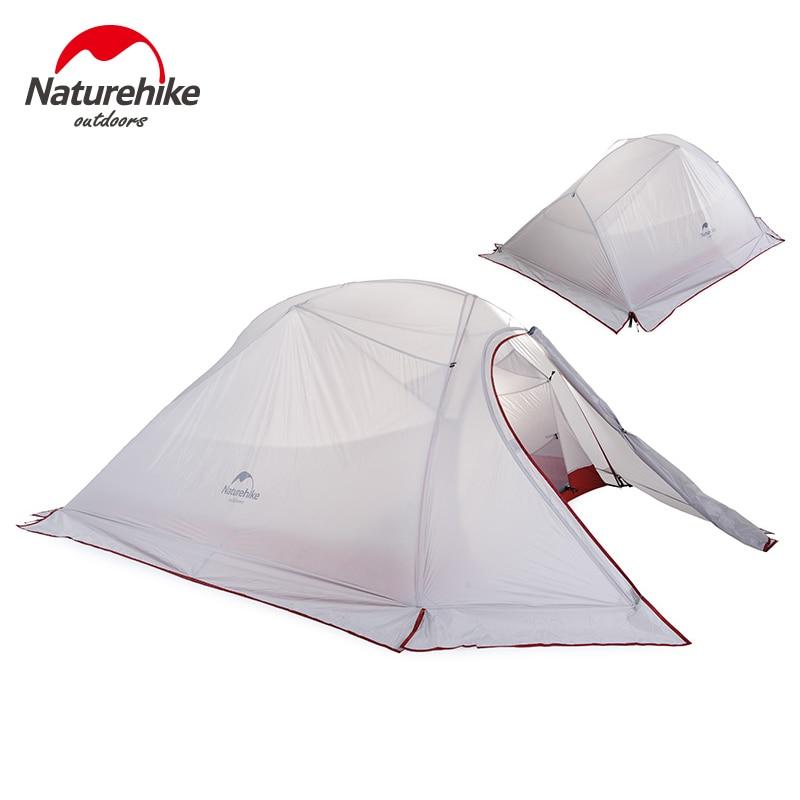 Naturehike barraca de acampamento ao ar livre 2 3 pessoa impermeável dupla camada inverno 4 temporada caminhadas turista 1 pessoa ultraleve tenda
