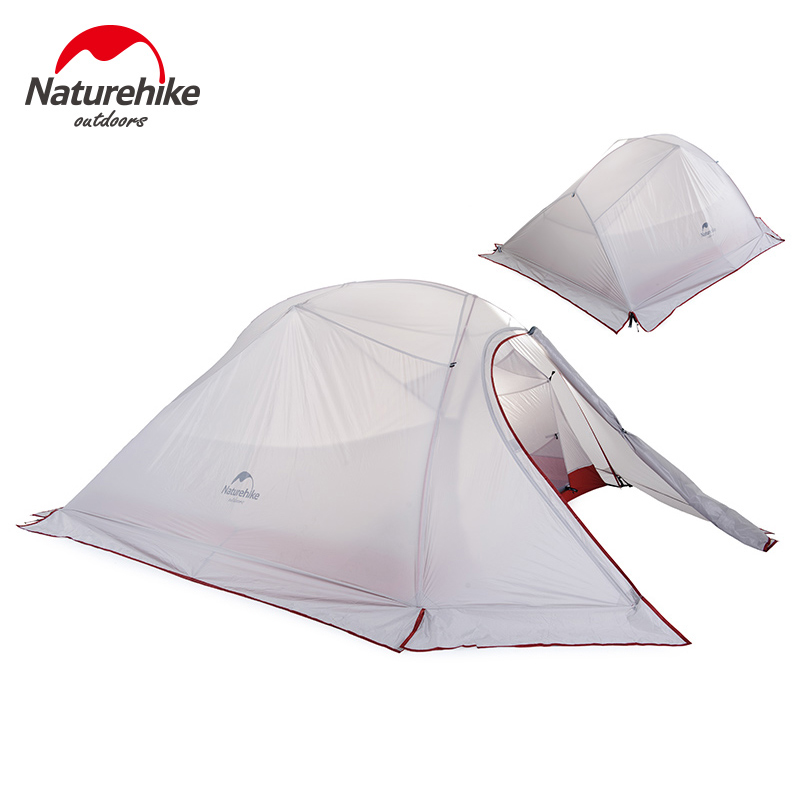 NatureHike Outdoor Camping Tent 2 3 Person Waterproof Double Layer Winter 4 Season Hiking Tourist 1 Person Ultralight Tent image
