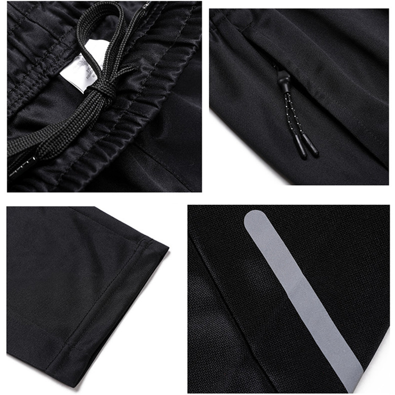 Image 5 - Men Sports Running Pants Pockets Athletic Football Soccer pant Training sport Pants Elasticity Legging jogging Gym TrousersRunning Pants   -