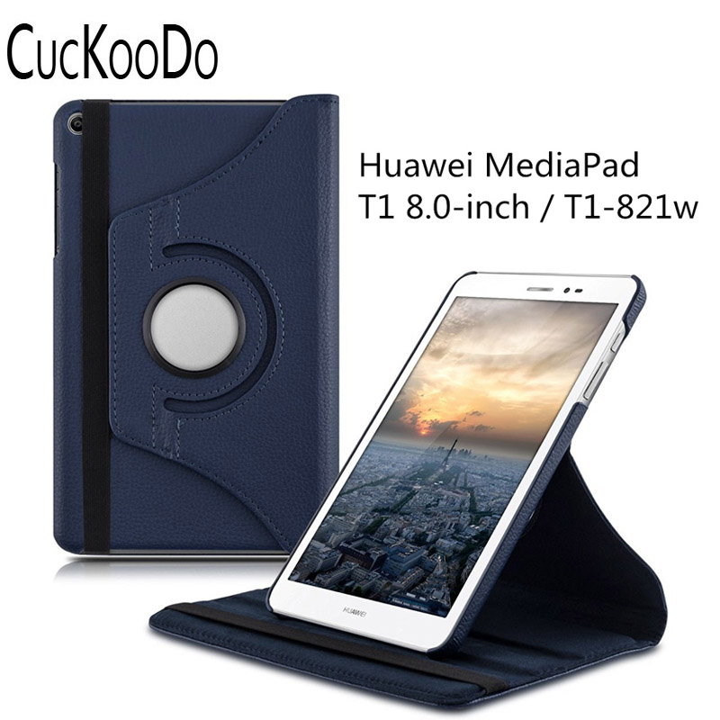 360 Degrees Rotation case for Huawei MediaPad T1 8.0 Honor T1 Case with stand - protective tablet cover with standing function mediapad m3 lite 8 0 skin ultra slim cartoon stand pu leather case cover for huawei mediapad m3 lite 8 0 cpn w09 cpn al00 8