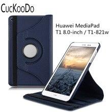 360 grados de rotación case para huawei mediapad t1 8.0 honor case con el soporte de la cubierta protectora de la tableta t1 con pie función
