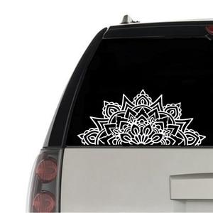Mandala Car Decal Half Mandala
