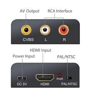 Image 2 - Neoteck 1080P HDMI to AV CVBS Converter NTSC PAL Output HDMI TO AV Scaler Switch Adapter HDMI to 3RCA AV CVBS Video Converter