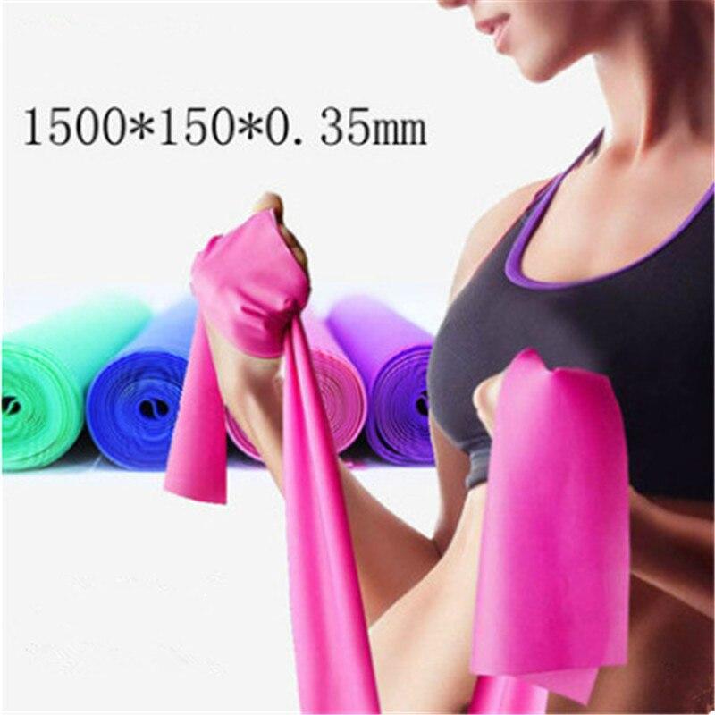 Gym equipment strength training latex elastic resistance rope stretching belt yoga rubber ring sports pilates WJ-116