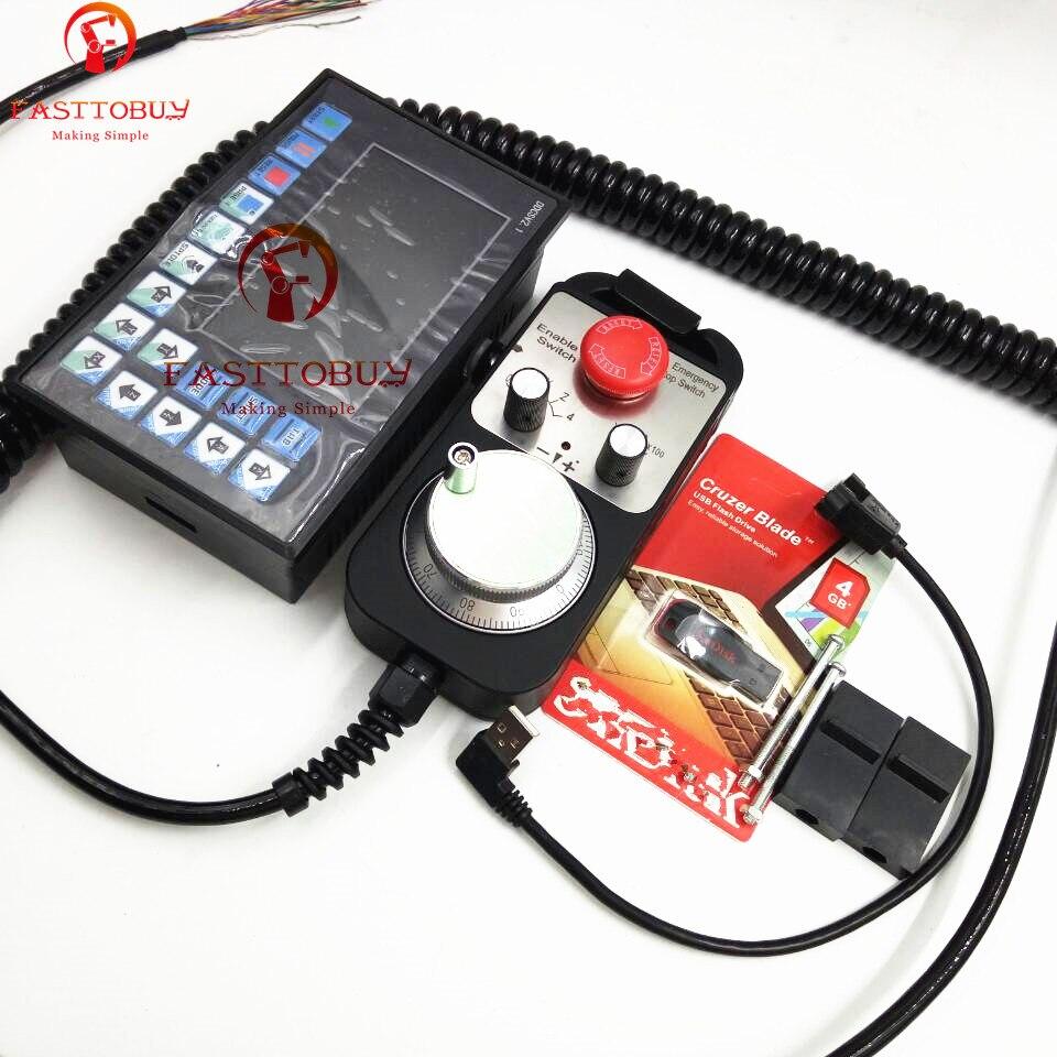 3 axe Hors Ligne CNC Contrôleur + Volant Kits Max 500 khz G Code Remplacer Mach3 USB CNC Contrôleur pour CNC routeur Fraisage Machine