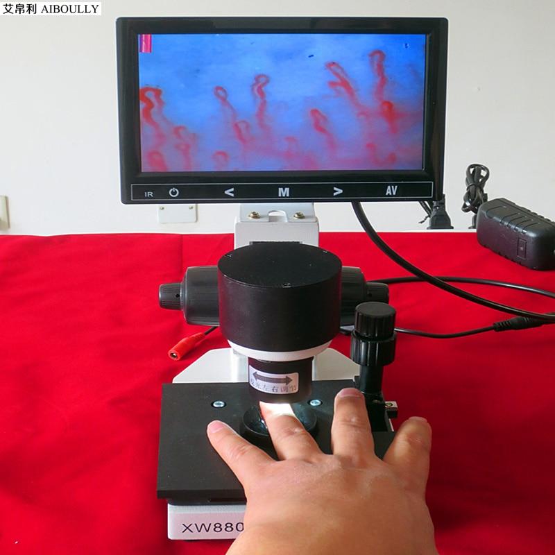 AIBOULLY XW-880 медицинская диагностика косметического анализа микрососудистых микроциркуляционных детекторов для наблюдения за кожей крови