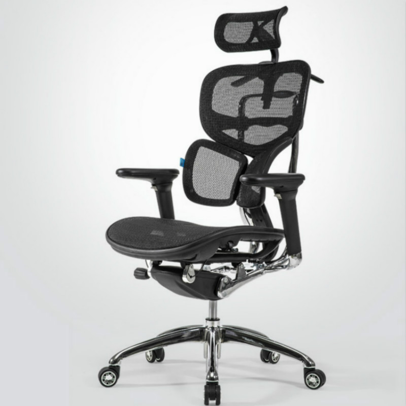 Ergonomic Mesh Computer Office Chair Home Engineering Chair Luxury Flagship Boss Seat Butterfly Wing Lumbar Fit Seat Headrest