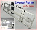 1 pair European size car license frame (Chrome) Car licence plate RoHS pro-environment ABS FFF (FREESHIPPING)