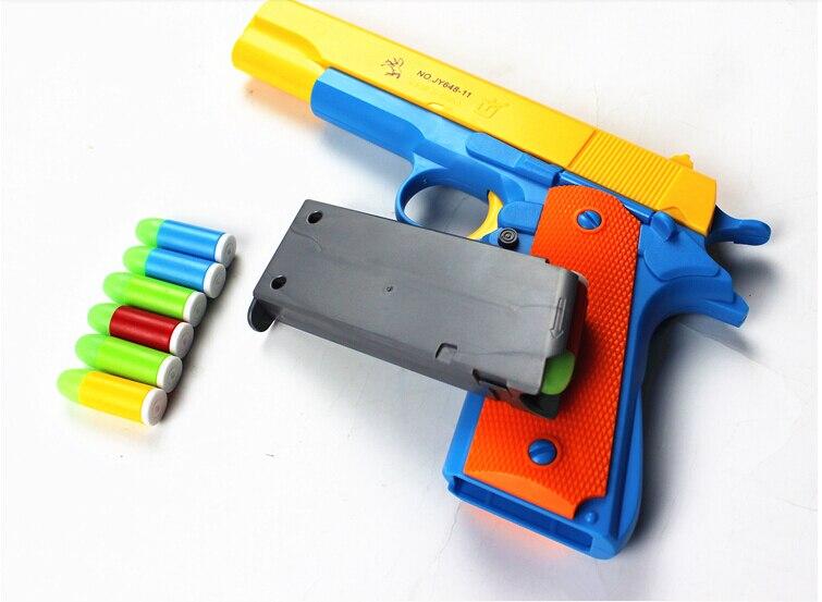 Black Rubber Fake 45 Handgun Movie Prop Weapon Costume Accessory Toy Pistol Gun