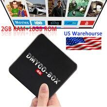 Android TV BOX Amlogic DMYCO-BOX S905 A53 Android 5.1 2 GB 16 GB de La Corteza Smart TV CAJA 2.4G/5 GHz Dual WiFi BT4.0 HDMI 4 K Set Top Box