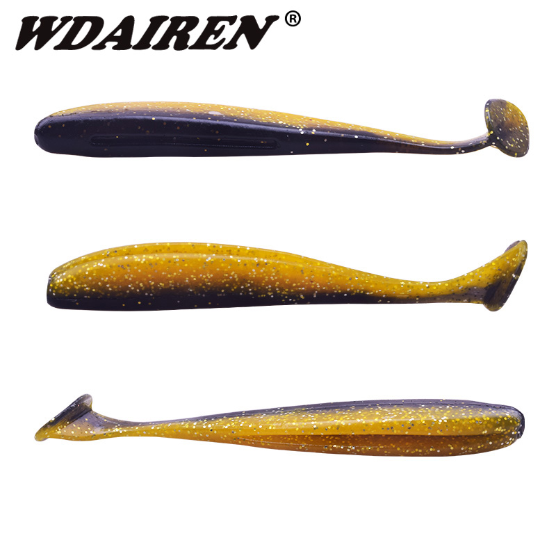 WDAIREN 85mm 4.5g 6pcs Wobblers Fishing Lures Easy Shiner Swimbaits Silicone Soft Bait Double Color Carp Artificial Soft Lure meredith 13cm 11 5g 4pcs wobblers fishing lures easy shiner swimbaits silicone soft bait double color carp artificial soft lure