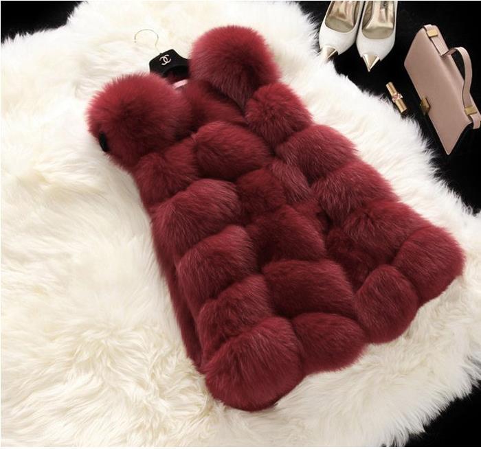 Winter Casual Faux Fur Coat Women 2018 Vintage Fashion Warm Slim Sleeveless Coat Solid Vest Female Jacket casaco feminino