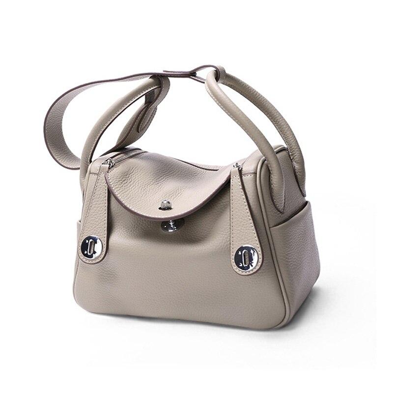 Sac à bandoulière pour femmes sac en cuir véritable femme Kit médical docteur Totes sac dames luxe peau de vache sac à main à glissière en cuir véritable