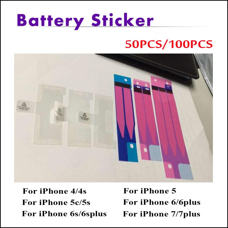 50 Pz/lotto o 100 Pz/lotto Batteria Sticker Adesivo FAI DA TE Tirare Striscia Tab Per iPhone 7/7 Più 6/6 Più 6 S/6 S Più 5/5C 5 S 4/4 S colla