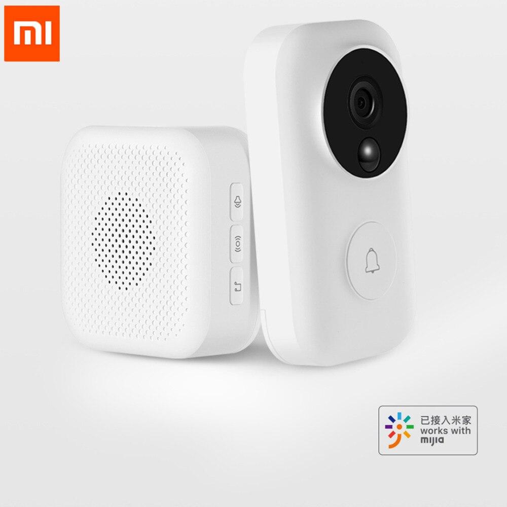 Xiaomi Zero identyfikacja twarzy AI dzwonek do drzwi zestaw 720 P IR Night Vision wideo detekcji ruchu, sms y, domofon darmowa chmura do przechowywania w Inteligentny pilot zdalnego sterowania od Elektronika użytkowa na  Grupa 1