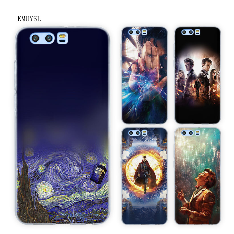 KMUYSL Tardis Box Doctor Who DW TPU Transparent Soft Case Cover for Huawei Honor 9 8 Lite 7X 6A 6X 6C Pro 10 ...
