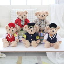 Wholesales 20pcs A Lot 25cm Soft Teddy Bear With Uniform Plush Toy Stuffed Bears