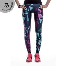 Summer Autumn Legging Black Blue and Purple Objects legins Printed leggins Women leggings Sexy Fitness Women Pants KDK1480
