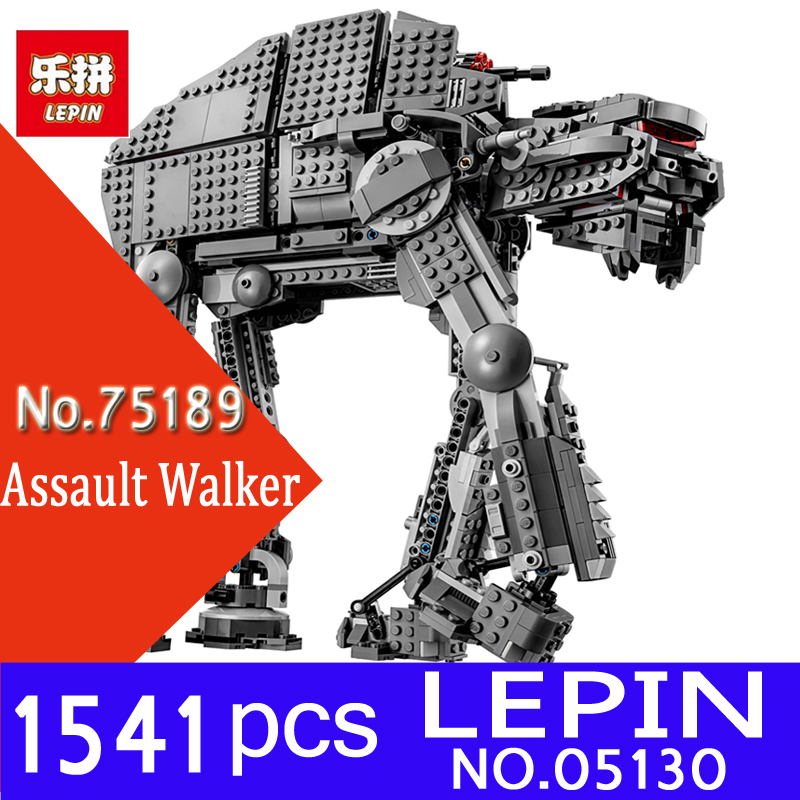 Lepin 05130 Genuine 1541Pcs Star Plan Series The First Order Heavy Assault Walker Set 75189 Building Blocks Bricks Children Toys конструктор lepin star plan истребитель набу 187 дет 05060