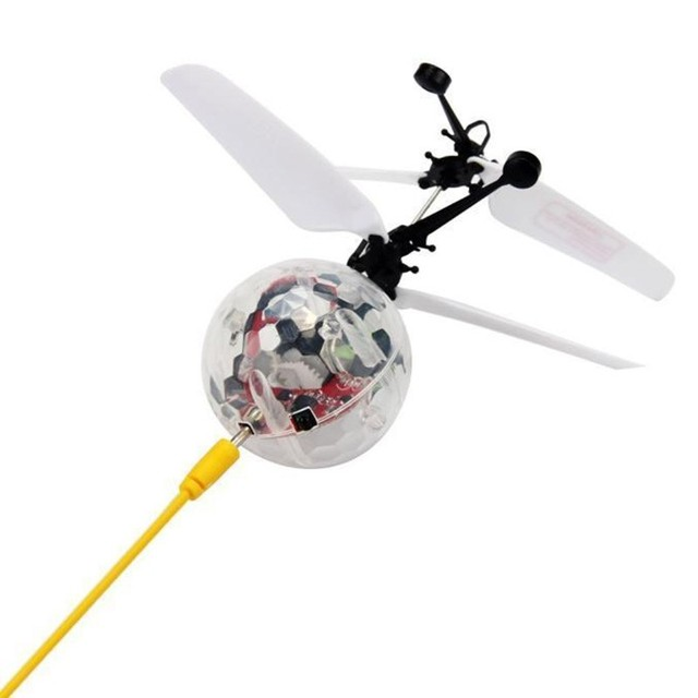 RC Flying Ball, RC Drone Helicopter Ball Built-in LED Shinning Lighting for Kids Teenagers Remote Control RC Helicopter Flying
