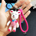 New Year Christmas gift 17 color gloomy bear keychain Cute Cartoon bear Charm Bag Car pendant Keyring Key holder llaveros