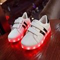 25~34 Toddler Boys Children Shoes USB Charging Krasovki illuminated Luminous Sneakers LED Slippers