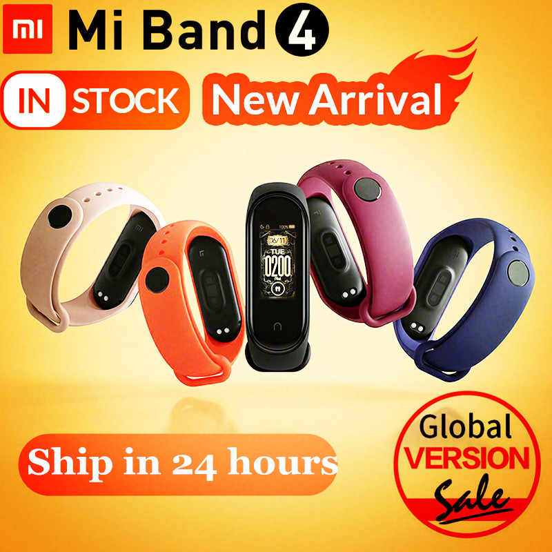 2019 Newest Original Xiaomi Mi Band 4 Smart Miband 4 Color Screen Bracelet Heart Rate Fitness 135mAh Bluetooth 5.0