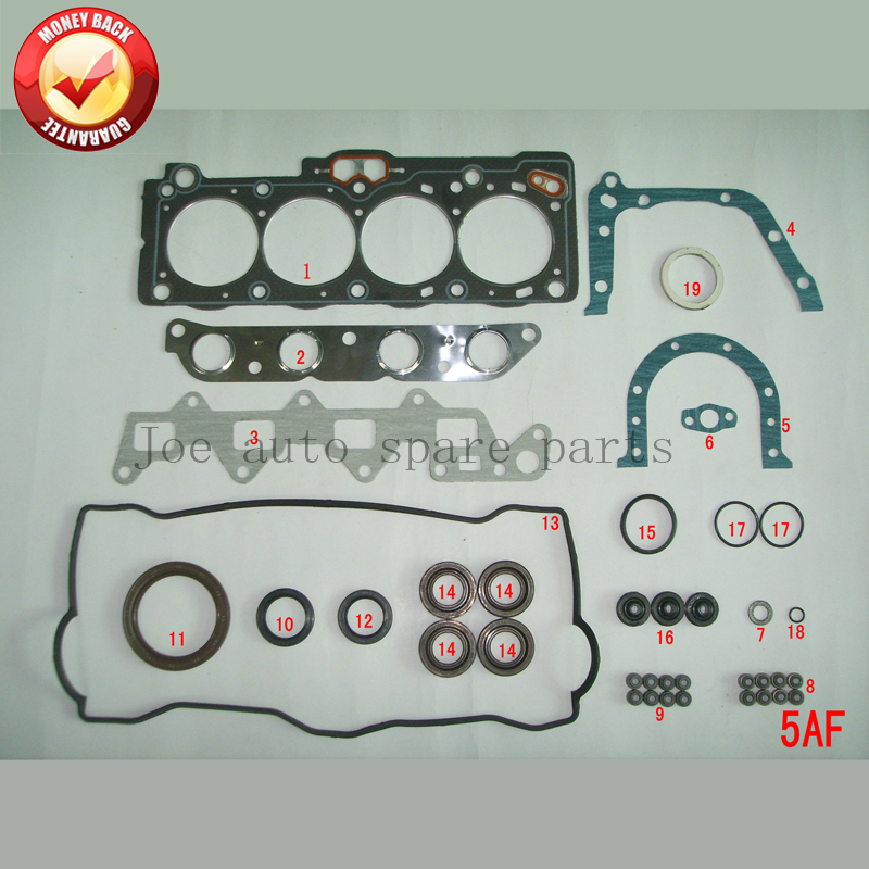 5a 5af Engine Complete Full Gasket Set Kit For Toyota Carina/corolla/corona/sprinter 1.5l 1498cc 1987-1990 04111-15084 Back To Search Resultshome