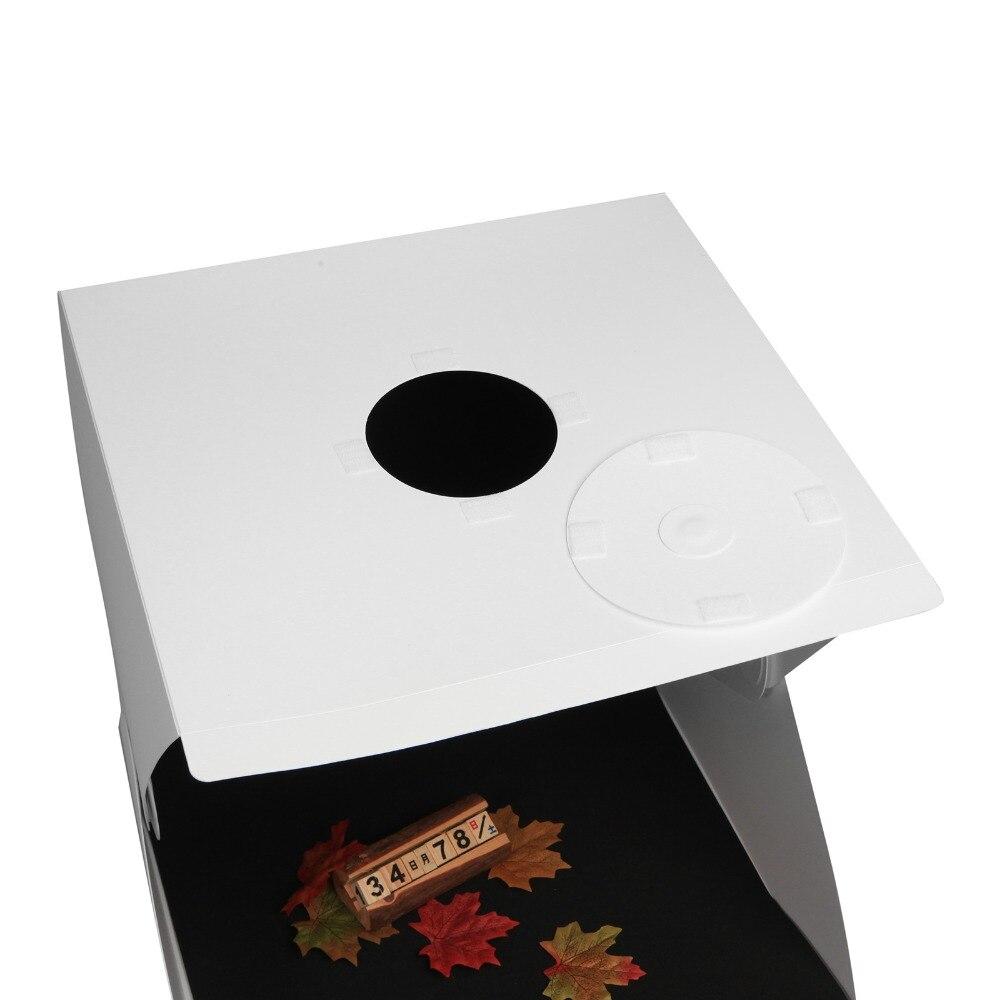 Meking 40*40 см Портативный складной студия диффузный софтбокс с светодиодный свет черный, белый цвет фотография Фон Фотостудия коробка