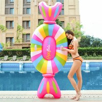 Large Inflatable Candy Floating Row Swimming Pool Rest Floating Bed Outdoor Swim Float Rafts Summer Party Adult Kids Float Toys