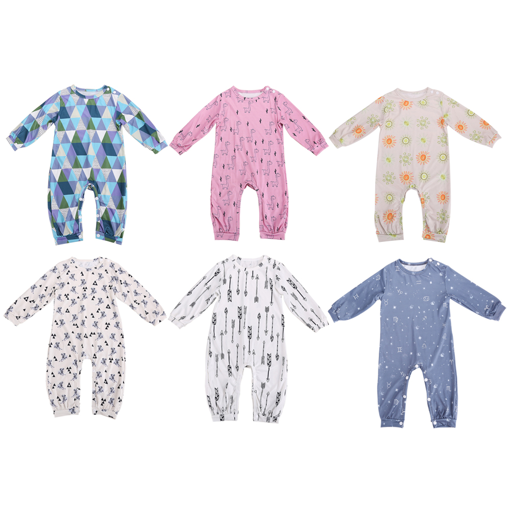 Baby Romper Kids Toddler Infant Newborn Boys Girls Cotton Jumpsuit Outfits Baby Long Sleeve Clothing Pajamas Set infant toddler baby kids boys girls pocket jumpsuit long sleeve rompers hats kids warm outfits set 0 24m