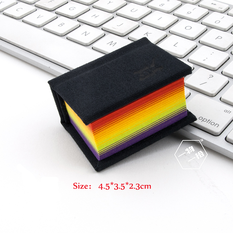Mini Rainbow Page Hardcover Notebook Creative Cute Mini Stationery Diary Portable Cute Color Page Notebook стул page
